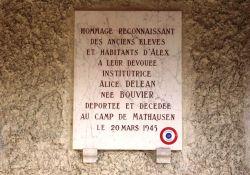 Gedenktafel Alice Déléan