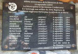 Gedenken und Dank an 13 algerische Schützen