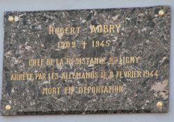Gedenktafel Robert Aubry (© AC Nancy-Metz)