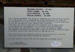 Detail: Gedenktafel der vier Maquisards