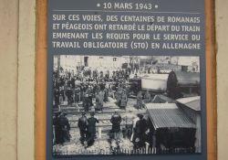 Foto von der Blockade des STO-Zugs im Bahnhof