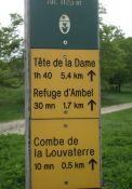 Wegweiser zur Refuge d'Ambel