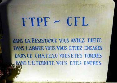Text auf Denkmalsockel; Quelle: cvrduvaucluse.canalblog