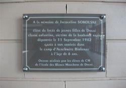 Gedenktafel Jacqueline Sokolski