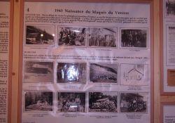 Tafel im Museum: Vercors-Maquis