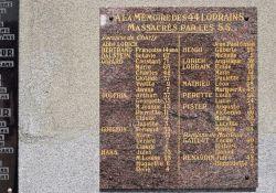 Gedenktafel an Moselaner/innen in Oradour; © Martin Graf