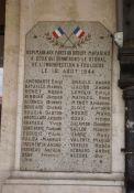 Gedenktafel zu den letzten Kämpfen im Bhf. Toulouse-Matabiau