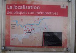 Standort der Informationstafeln