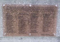 Gedenktafel an die Opfer 1943