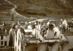 Bessans 1944 in Trümmern; © francebleu.fr