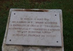 Gedenkstein für die algerischen Befreiungssoldaten