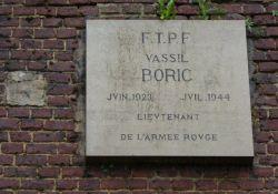 Gedenkfafel V. Boric/V. Poryk in Arras