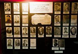 Im Museum: Fotos der 25 Gefolterten und in Penthièvre im Graben gefundenen Locminé-Widerstandskämpfer