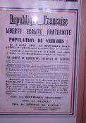Aufruf zur Wiedergründung der République Française; Quelle: Musée de la Résistance, Vassieux-en-Vercors