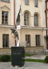 Skulptur im ehemaligen Ghetto-Theater