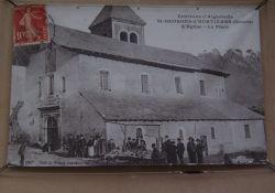 Kirche, hist. Foto von 1925