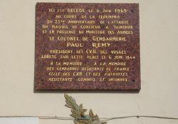 Gedenktafel für Colonel Rémy