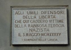 Gedenktafel für die Lancia-Arbeiter