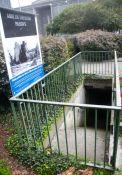 Eingang des Memorial der zerstörten Stadt – abri de défense passive