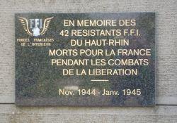 Tafel für FFI-Kämpfer