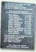 Gedenktafel im Bahnhof Brandenburg/Havel