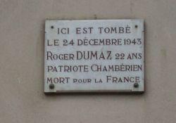 Gedenktafel Roger Dumaz