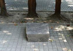 Gedenkstein auf der Gedenkstätte Zwartendijk