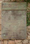 """Gedenktafel an die """"Mission Frederick"""""""
