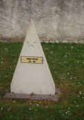 """Grabstein auf """"sowjetischem Friedhof"""""""