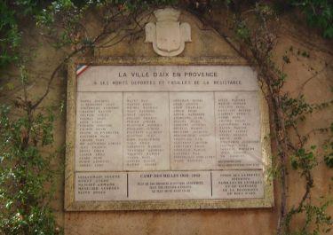 Denkmal Deportierte und Erschossene der Résistance