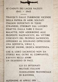 Gedenktafel für die Militärinternierten