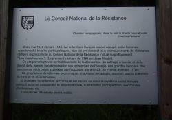 Infotafel: Programm der Résistance