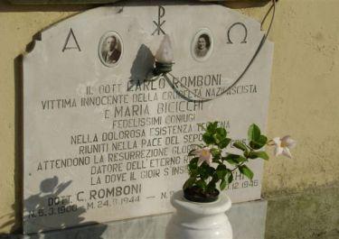 Gedenktafel auf dem Friedhof von Camaiore (Foto: della Mea)