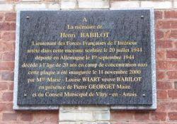 Gedenktafel H. Babillot