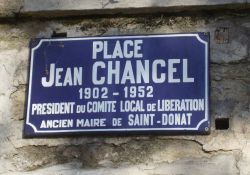 Schild 'Place Jean Chancel'