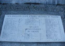 Deportiertendenkmal, Gedenktafel 'Kinder von Izieu'; Quelle: Musée Nantua