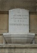 Gedenktafel für einen am 2.9.1944 getöteten FFI-Kämpfer