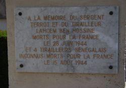 Gedenktafel für sechs erschossene Soldaten