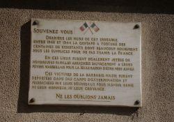 Gedenktafel an die Gestapo-Opfer, Rue Paradis Nr. 425