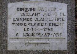 Gedenkkreuz Jacques Cinquini (Ausschnitt)