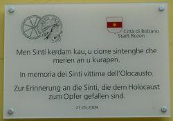 Gedenktafel für die ermordeten Sinti