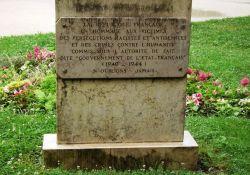 Gedenktafel an Vichy-Verantwortung