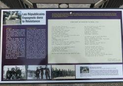 Infotafel am Spanierdenkmal; © Marie-Claire Concha des Dago, resistance-espagnole 74.com