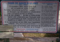 Infotafel zum Maquis de la Lance