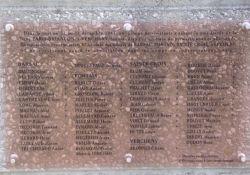 Tafel am Memorial d'Espenel - Deportierte