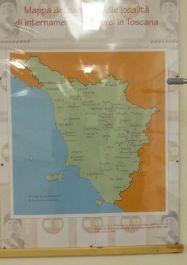 Karte der Internierungslager in der Toscana