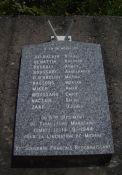 Gedenktafel an die zehn marokkanischen Soldaten