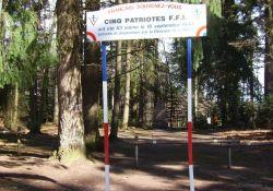 Stele für fünf am 18.9.1944 erschossene FFI-Patrioten