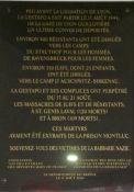 Gedenktafel an 750 Deportierte vom August 1944