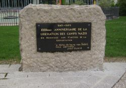 Gedenkstein zur Befreiung der KZ